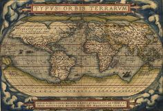 The Ortelius World Map (1564), the first map by Abraham Ortelius, creator of the first modern atlas.
