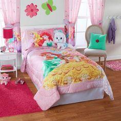 Disney Princess Palace Pets 'Fabulous Friends Twin/Full Bedding Comforter, Pink