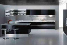 modèle de cuisine moderne en noir