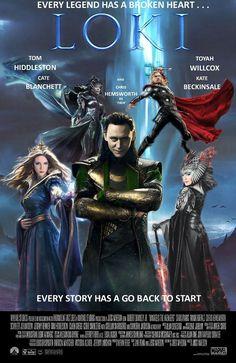 Loki spoof poster * * * Toyah body http://cgsoufiane.deviantart.com/art/Fire-Queen-407735330 * * * Kate body http://liang-xing.deviantart.com/art/Sufiru-adv-414528534
