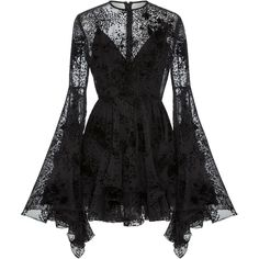 ALEX PERRY Buckley Flocked Silk Fitted Mini, Black Source by foolishandmagnificent outfits Dark Fashion, Gothic Fashion, Casual Mode, Alex Perry, Mode Outfits, Pretty Dresses, Frilly Dresses, Short Dresses, Beautiful Black Dresses