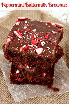Peppermint Buttermilk Brownies