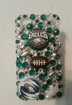 Bling Philadelphia Eagles NFL phone case  available in iPhone 3, 4, 5, Samsung galaxy 3, 4 or Samsung galaxy note 2