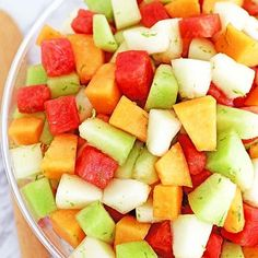 This melon salad is light, juicy and so refreshing! The watermelon, lime juice, and zest really lift the flavors and add a delicious taste and aroma. The dressing tastes almost like lemonade and is usually not wasted but enjoyed as a drink by one lucky kid. So good! Recipe ➡️https://www.valyastasteofhome.com/melon-fruit-salad-honey-lime-watermelon-juice-dressing/ ... ... ... #melonsalad #honeydewmelon #canarymelon #watermelon🍉 #fruitsalad #sorefreshing #summersalad #delicious #limezest #homemad