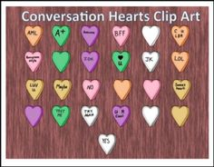"""FREE LESSON – """"FREE Conversation Candy Hearts Clip Art for Valentines Day"""" - Go to The Best of Teacher Entrepreneurs for this and hundreds of free lessons. 2nd - 6th Grade   http://thebestofteacherentrepreneursmarketingcooperative.net/free-misc-lesson-free-conversation-candy-hearts-clip-art-for-valentines-day/"""