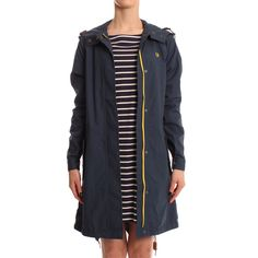 Fred Perry Womens Navy Slim Fit Parka