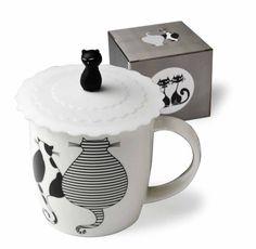 Hrnek kočky se silikonovým víčkem Sugar Bowl, Bowl Set, Canning, Mugs, Tableware, Dinnerware, Tumblers, Tablewares, Mug