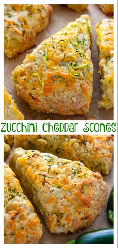 Zucchini Cheddar Scones – Baker by Nature My favorite savory scones are loaded with sharp cheddar cheese and fresh zucchini! Who knew veggies could taste this good! If you have leftover zucchini, try these zucchini cheddar scones! Bread Recipes, Baking Recipes, Scone Recipes, Zuchinni Recipes, Shredded Zucchini Recipes, Savory Zucchini Bread, Garlic Bread, Zucchini Scones Recipe, Gastronomia