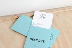 Logo and pastel coloured envelopes created by Coast for furniture design and manufacturing workshop One To Be