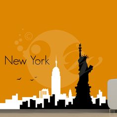 With this City Of New York Wall Sticker Decal you can decorate your walls in one of the most modern and elegant ways