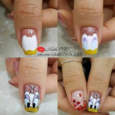 Photo nail designs 2019 nail designs for short nails 2019 self adhesive nail stickers best nail stickers nail stickers walmart nail designs designs for short nails step by step best nail stickers nail art stickers walmart nail stickers walmart Nail Art Modele, Nail Art Dessin, Cartoon Nail Designs, Short Nail Designs, Cute Nails, Pretty Nails, My Nails, Nail Manicure, Nail Polish