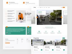 Homey is a free HTML5 bootstrap template perfect for real estate websites. This fully responsive template is built using the latest web technologies. Css Website Templates, Bootstrap Template, Web Technology, Real Estate Business, Website Ideas, Free