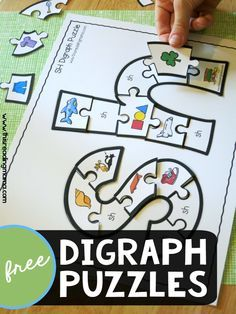 FREE Printable Digraph Puzzles - This Reading Mama