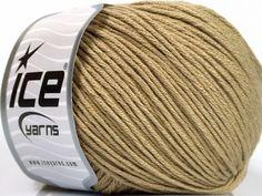 Bahar - Yaz İplikleri Yazlık İplikler Pamuk Bambu Natural Yarn Double Knitting Açık Kamel  İçerik 60% Bambu 40% Pamuk Light Camel Brand Ice Yarns fnt2-50536 Ice Yarns, Bamboo Light, Cotton Lights, Fiber, Content, Camel, Low Fiber Foods