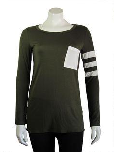 Stripe sleeve shirt #Shepaisy