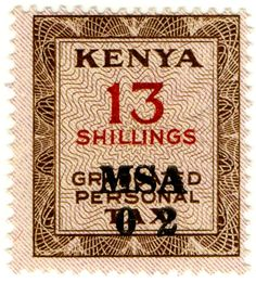 Kenya Graduated Personal Tax 13s 1966