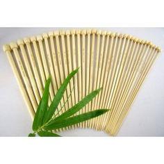 Bobbin Box Single Point Knitting Needles - Bamboo - 34cm - Set of 17 Pairs