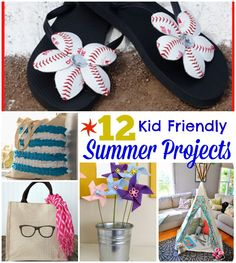 12 Kid Friendly Summer Projects to keep the kiddos occupied when school lets out!