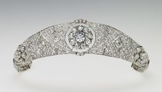 Queen Mary's Diamond Bandeau Tiara (formerly her Filigree Tiara) that was worn by the Duchess of Sussex née Meghan Markle on her wedding day.