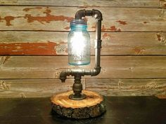 Industrial Pipe Lamp Black Pipe Lamp by JWUniquePipeDesign on Etsy