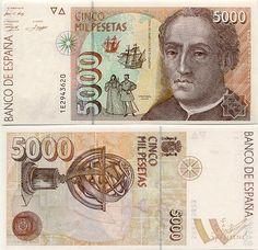 Spain  5000 Pesetas 12.10.1992 (Columbus; astrolabe)