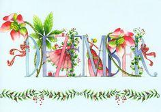 """""""Décembre"""" illustration de Nina Chen, artiste allemande."""