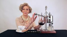 Brew coffee 19th century style with a balancing siphon