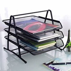 #Storage You can easily access your papers as the compartments can be pulled out. It is perfect for #separating different paper types and #organizing paperwork, m...