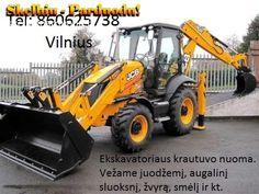Ekskavatoriaus nuoma 860625738 Vilnius Racioko nuoma traktoriaus nuoma
