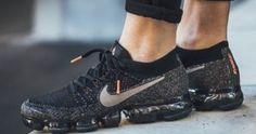 """Here is a look at the new Nike Air VaporMax Flyknit """"Touch of Crimson"""" Sneaker available now HERE , These look amazing! With a reinvented ... New Nike Air, Nike Air Vapormax, Nike Vapormax Flyknit, Basket Nike, Nike Running, Running Shoes, Nike Basketball Shoes, Sneakers Nike, Nike Shoes"""