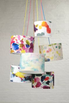 bluebellgray lampshade collection. @JulesSews supplies this incredible fabric to make into all kinds of soft furnishing goodies!