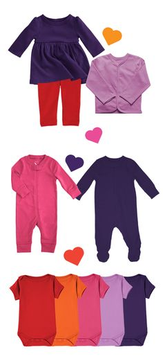 It's Valentine's Day - let's make outfits! Timeless baby styles in super soft fabrics, in all of their favorite colors. Get 20% off + FREE shipping w/code: PIN20PCT