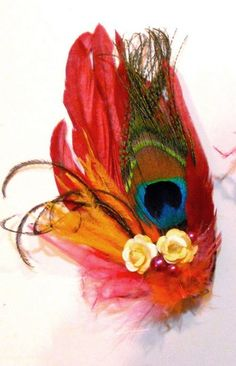 Bird of paradise fascinator