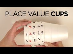 Place value can be a tough concept for kids to understand. This is a fun way to teach place value using a simple hack! Take styrofoam cups from the dollar st. Place Value Activities, Math Place Value, Math Activities, Math Games, Teaching Place Values, Teaching Math, Math Lab, Math Graphic Organizers, Fourth Grade Math