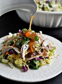 Thai Crunch Chopped Chicken Salad I howsweeteats.com