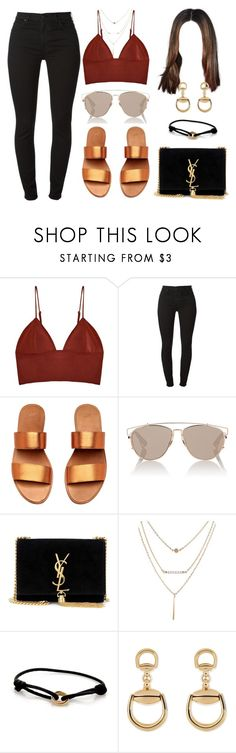 """""""Sans titre #396"""" by tahsine-976 ❤ liked on Polyvore featuring Fleur du Mal, 7 For All Mankind, Christian Dior, Yves Saint Laurent, Cartier and Gucci"""