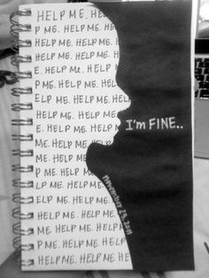This reminds me of the Fake Love MV by BTS. In the shot where V/ TAEHYUNG is standing in a hallway with the words I'm Fine written behind him. The Words, Sad Quotes, Life Quotes, Depression Quotes, Depression Art, Depression Journal, Depression Awareness, Depression Recovery, Feelings