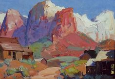 Zion - Franz Bischoff Oil Painting