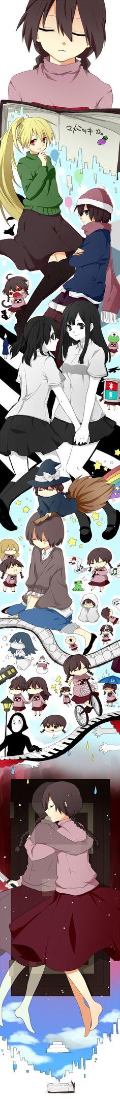 Tags: Anime, Yume Nikki, Madotsuki, Monoe, Monoko:
