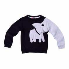 Charming Elephant Pullover in Grey, 58.4% discount @ PatPat Mom Baby Shopping App