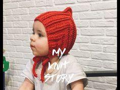 Модная детская шапочка спицами,  как связать?  Урок по вязанию.  (Pixiehat  шапочка) - YouTube