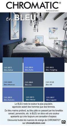The remains the most popular color, appreciated by both men and women. BLUE in Deco # is a soothing color that always creates Source by ninilanicoise Paint Colors For Living Room, Paint Colors For Home, Bedroom Colors, House Colors, Interior Design Living Room, Interior Decorating, Plus Populaire, Interior Paint Colors, Suites