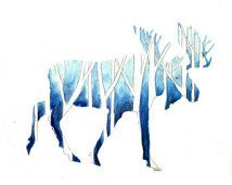 tree branch silhouette moose - Google Search