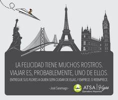 Viajar te hace feliz En ATSA viajes tenemos un mundo de probabilidades, pregunta por nuestros destinos y acércate más a tus sueños.   +info al 50231008 ext 605  Visita: www,atsaviajes.com   #ATSAviajes #AtreveteAviajar #ViajesEspirituales #MiViaje #ViajesEspirituales #YoviajoconATSA #ViajarHaceFeliz