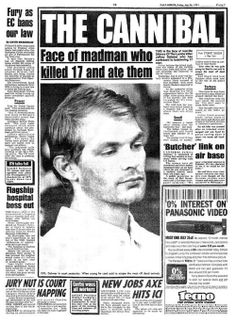 Newspaper article about Jeffery Dahmer