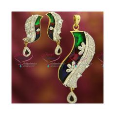 Ideal for party wear. Chain not included Height of the pendant is 77 mm. Ruby Pendant, Pendant Set, Pendant Earrings, Drop Earrings, Fancy Party, Party Wear, Grand Designs, Chain Pendants, Jewelry Sets