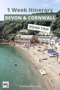Awesome Devon and Cornwall Road Trip: 1 Week Itinerary Road Trip Europe, Road Trips, Visit Devon, Places In England, Explore Travel, Scotland Travel, Cornwall, Cool Places To Visit, Trip Planning
