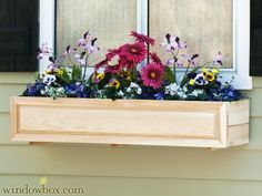 Raised Panel Cedar Window Box