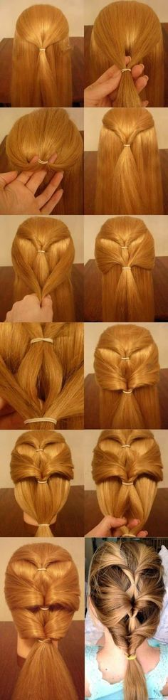 How to Make Inverted Ponytails Hairstyle