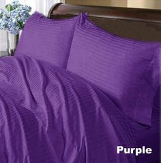 300 TC Deluxe 100% Egyptian cotton Elegant Duvet Cover 300 THREADS Queen Purple Stripe by pearlbedding. $89.99. THREAD COUNT/MATERIAL: 300TC , 100% Egyptian Cotton. This is one Duvet Cover only. Experience true luxury when you sleep on these Eqyptian cotton sheets.. Extra Comfortable and most Contemporary Duvet set.. Brand New and Factory Sealed. No Ironing Necessary. Super Soft sheets with super soft comfort, luxury and style a cut above the rest. Beautiful super soft Duvet ...